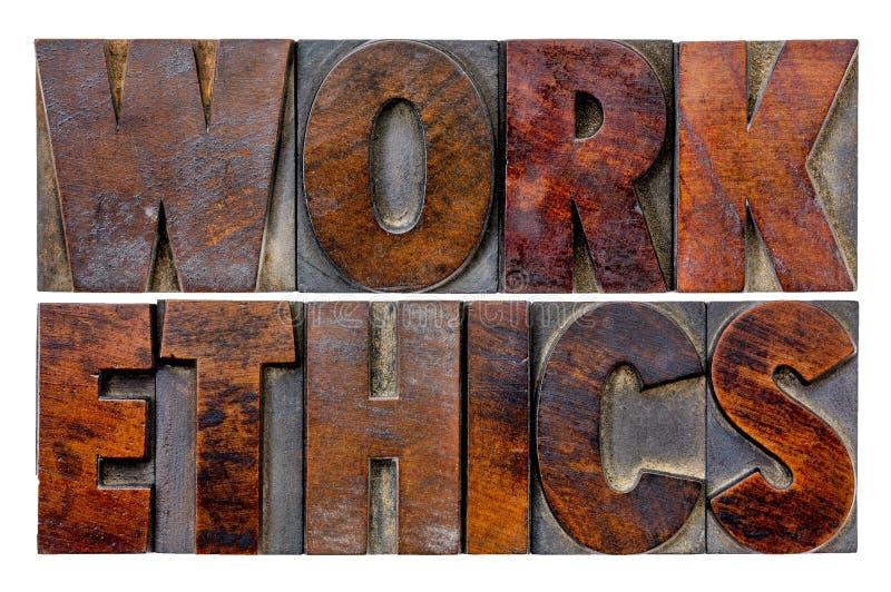 Extracto de la palabra de los éticas de trabajo foto de archivo libre de regalías