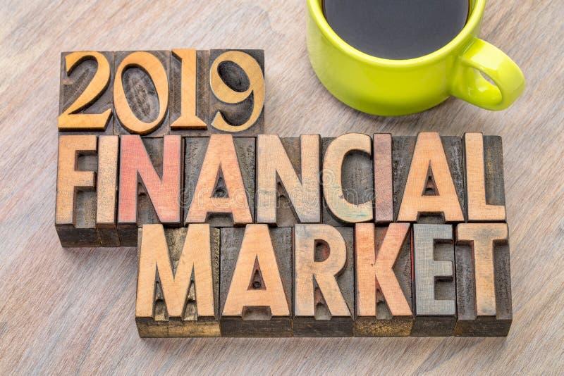 extracto de la palabra del mercado de acción 2019 fotos de archivo