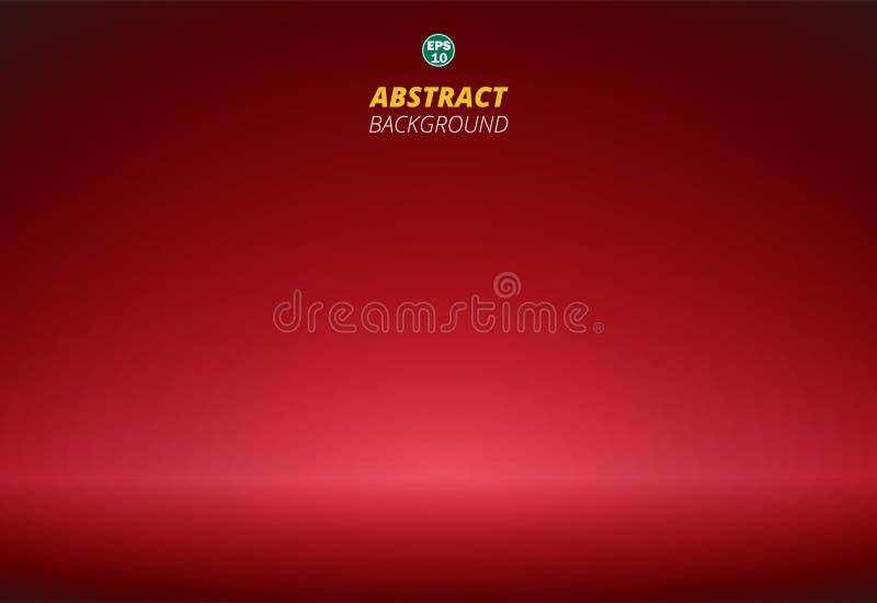 Extracto de la pendiente roja de lujo con el fondo del espacio de la copia ilustración del vector