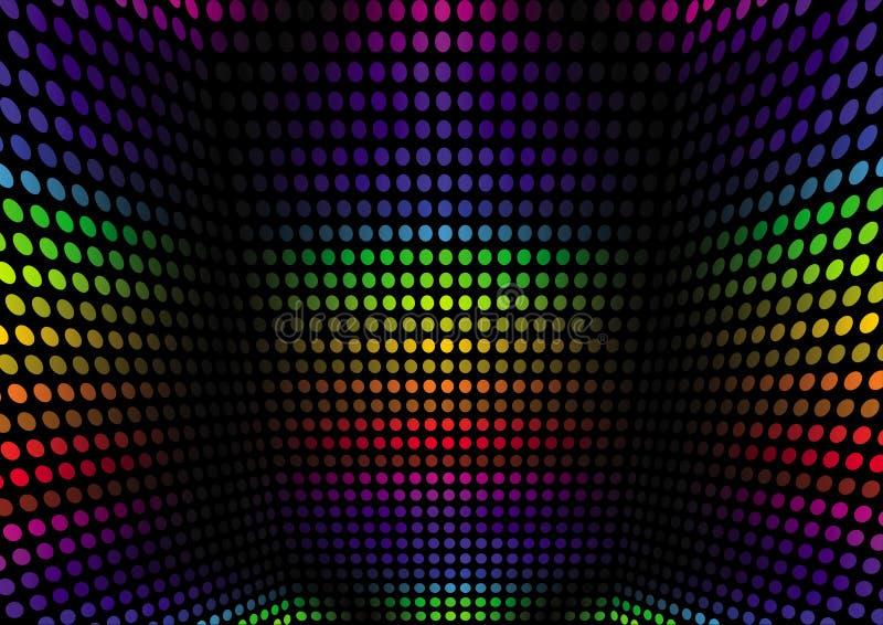 Extracto de la perspectiva del espectro ilustración del vector