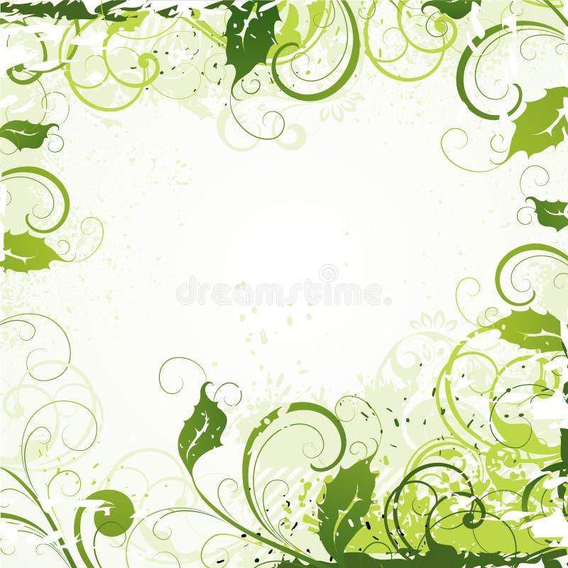 Extracto de la planta verde stock de ilustración