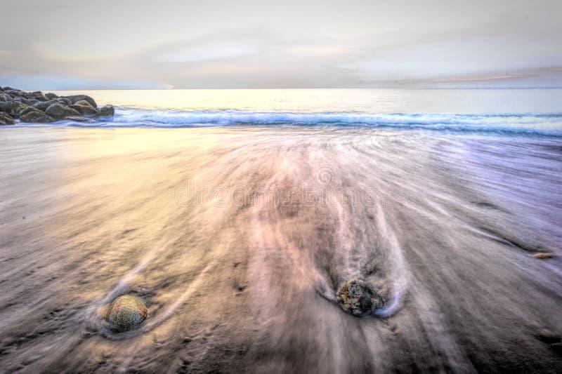 Extracto de la playa del océano fotografía de archivo libre de regalías