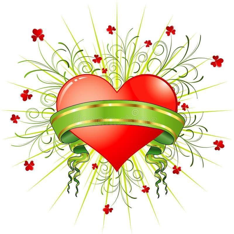 Extracto de la tarjeta del día de San Valentín libre illustration