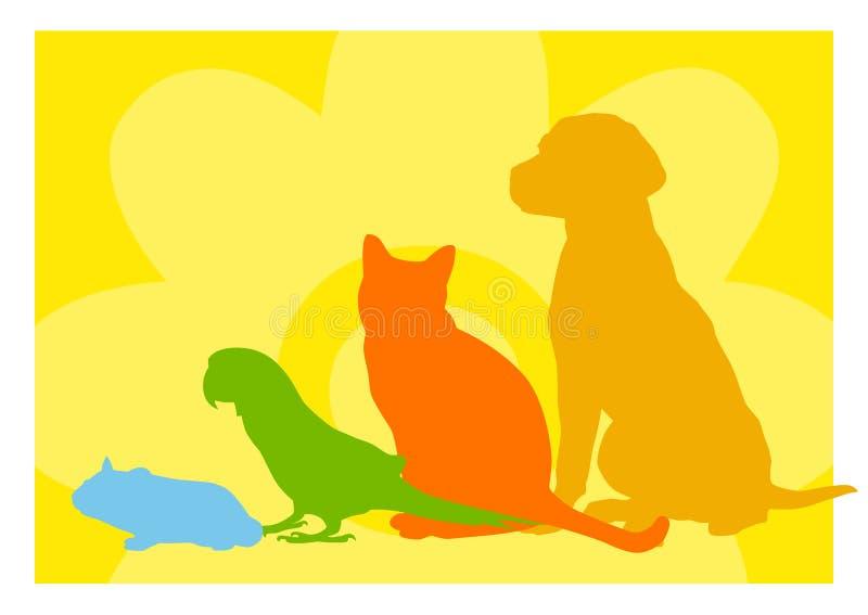 Extracto de la tienda de animales stock de ilustración