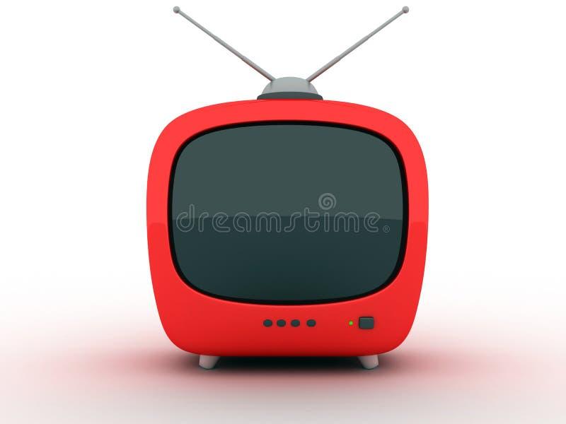 Extracto de la TV (frente) ilustración del vector