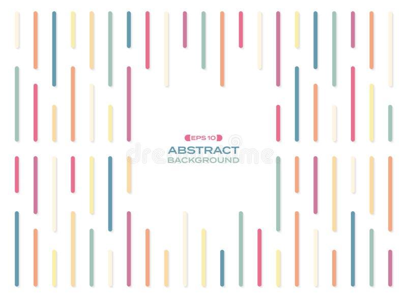Extracto de las líneas coloridas simples modelo de la raya del arco iris con el fondo de la sombra libre illustration