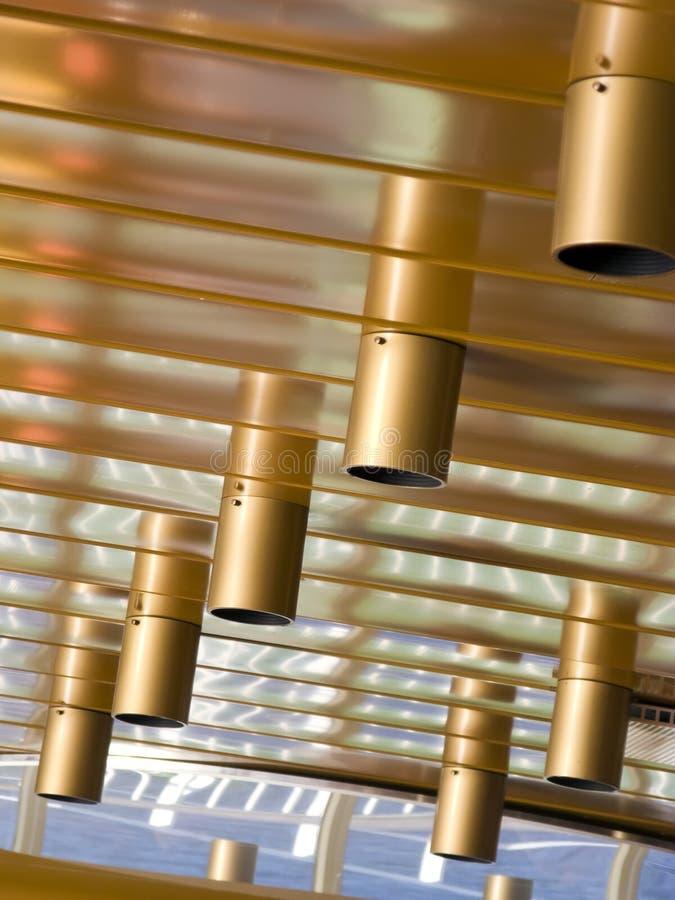Extracto de las luces de techo fotografía de archivo