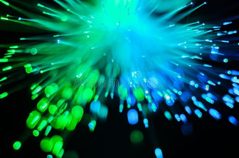 Extracto de las luces de las fibras ópticas imagen de archivo libre de regalías