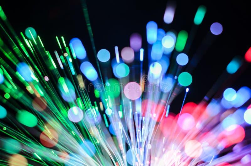 Extracto de las luces de las fibras ópticas foto de archivo