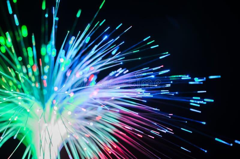 Extracto de las luces de las fibras ópticas fotos de archivo