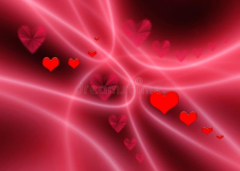Extracto de las tarjetas del día de San Valentín stock de ilustración