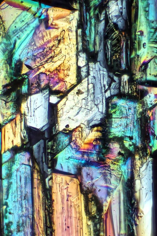 Extracto de los cristales del sulfato de cobre imagen de archivo libre de regalías