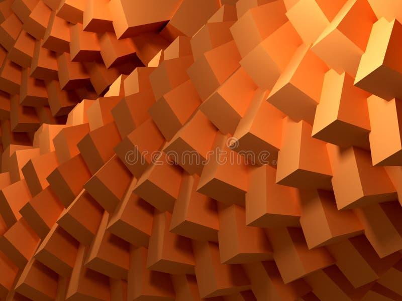 Extracto de los cubos ilustración del vector