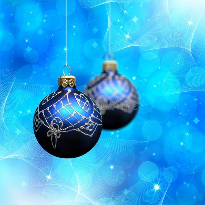 Extracto de Navidad con la decoración de la Navidad ilustración del vector