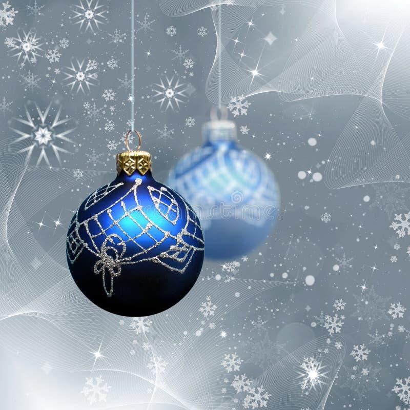 Extracto de Navidad con la decoración de la Navidad libre illustration