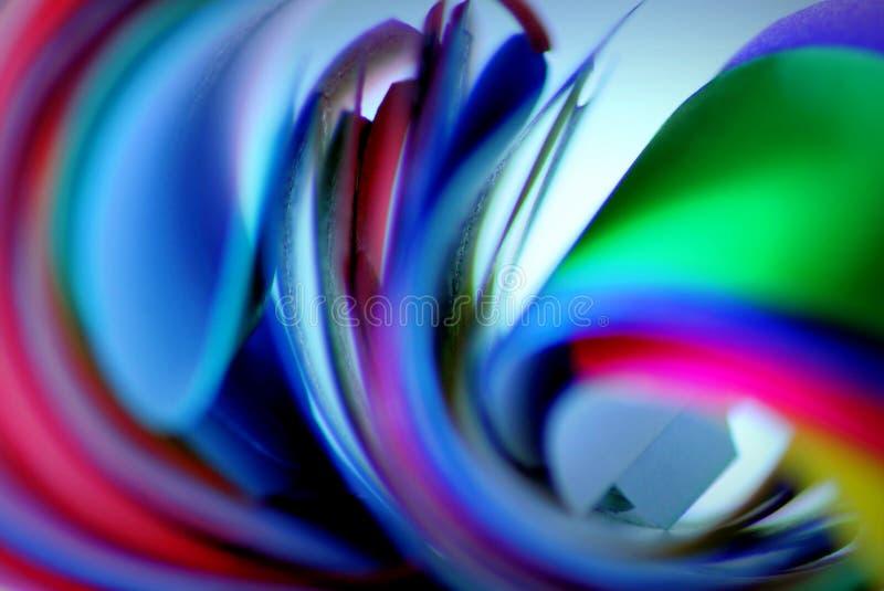 Extracto de papel colorido fotos de archivo