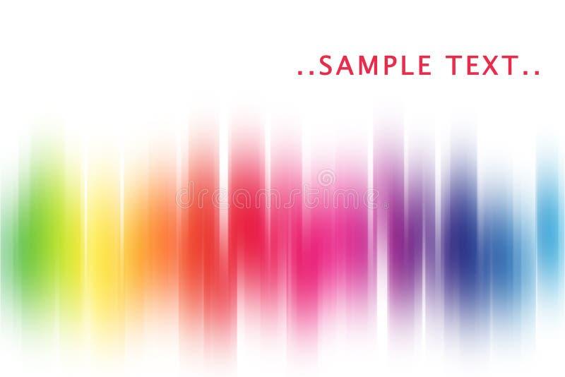 Extracto del arco iris ilustración del vector