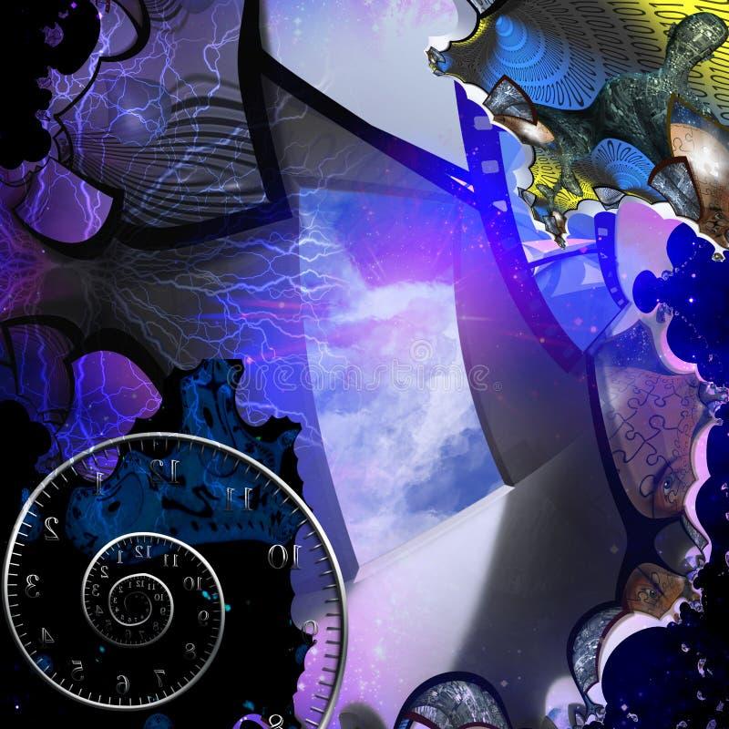 Extracto del artista con el umbral stock de ilustración
