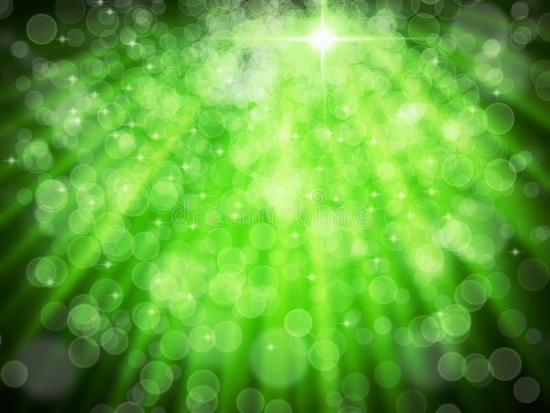 Extracto del bokeh verde del blanco de la aureola foto de archivo libre de regalías