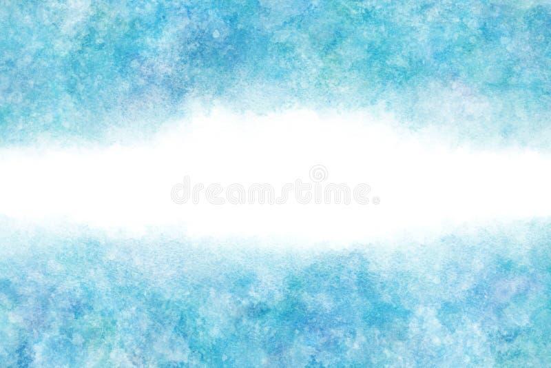 Extracto del cielo azul del verano del color en colores pastel o fondo natural de la pintura de la acuarela fotos de archivo