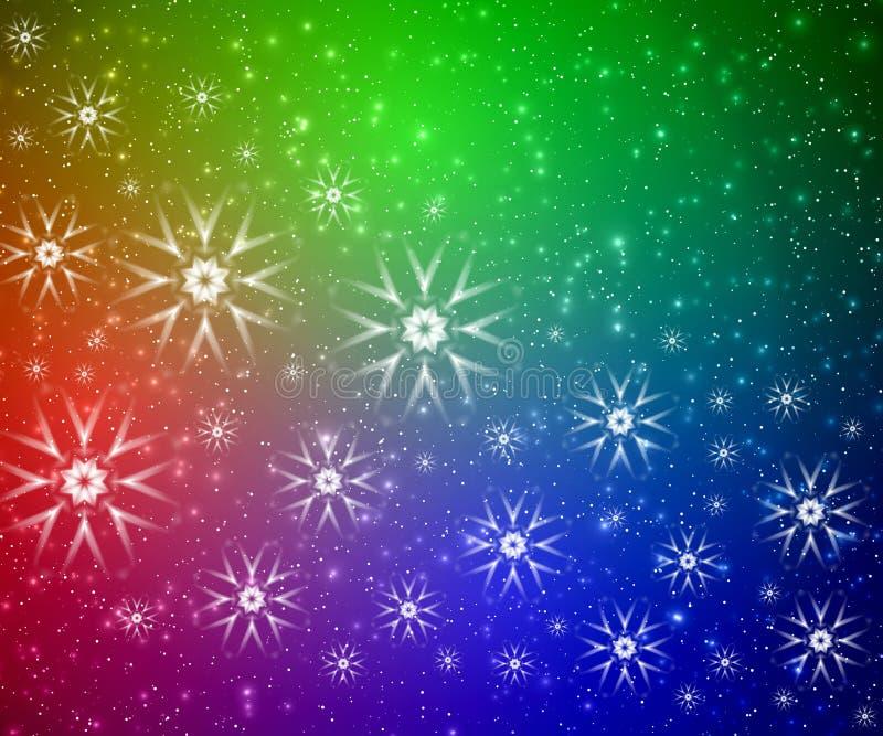 Extracto del color de la Navidad stock de ilustración