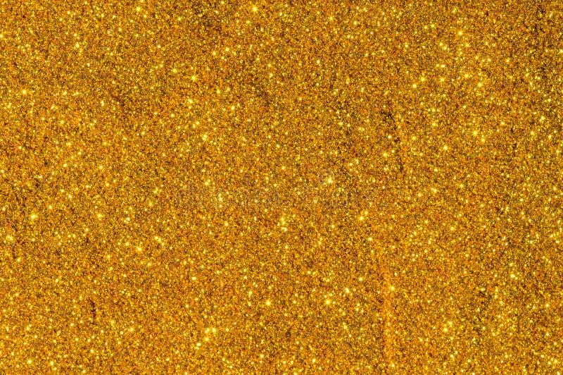 Extracto del color del oro de Bokeh imagen de archivo