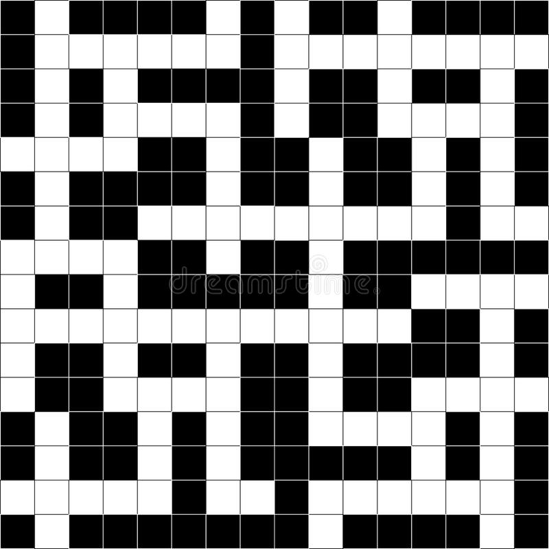 Extracto del crucigrama del vector. stock de ilustración