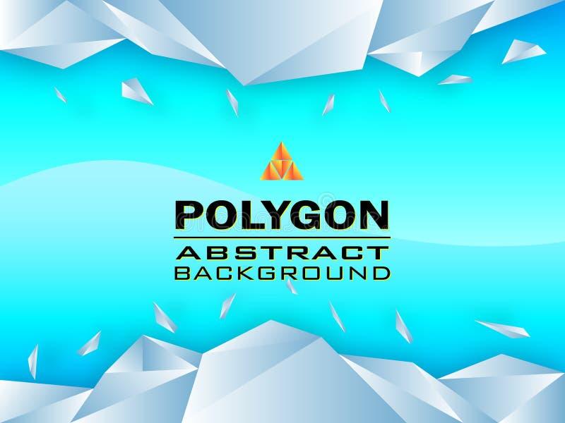 Extracto del diseño de concepto del polígono, ejemplo del vector imágenes de archivo libres de regalías