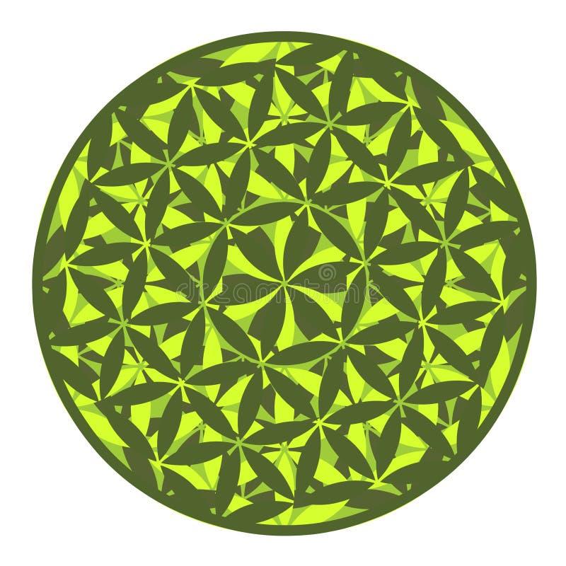 Extracto del diseño de la mandala ilustración del vector