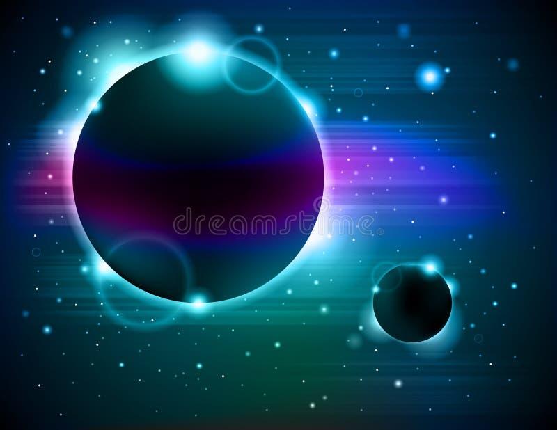Extracto del eclipse del planeta stock de ilustración
