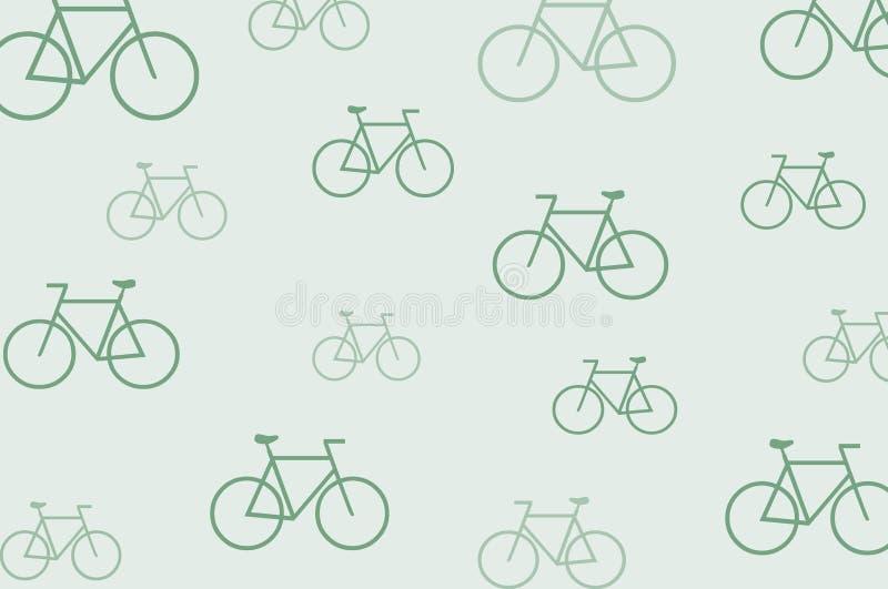 Extracto del fondo de los iconos de la bici ilustración del vector