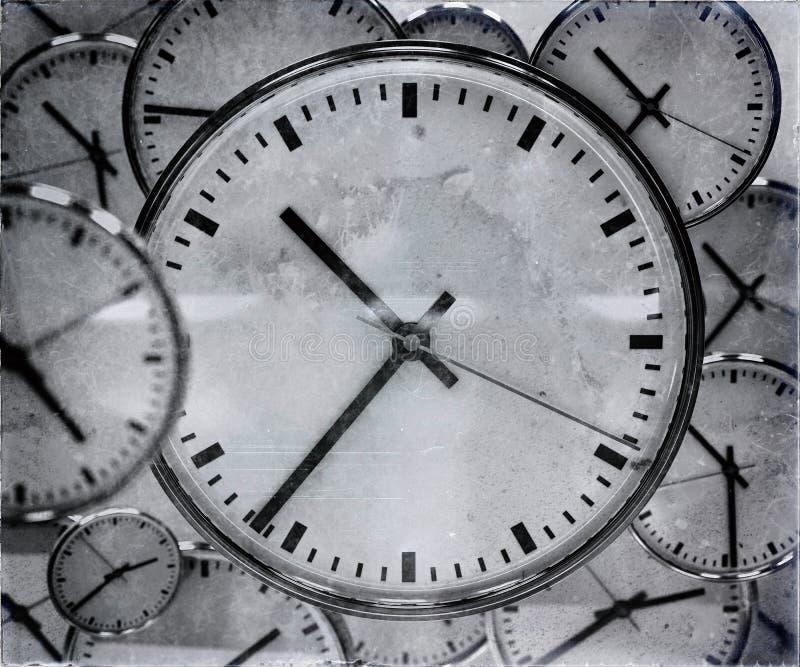 Extracto del fondo del reloj imagenes de archivo