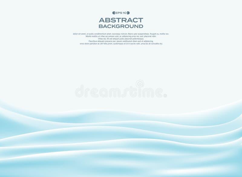 Extracto del fondo del modelo de onda de la nieve stock de ilustración