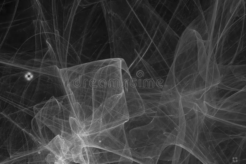 Extracto del fractal, diseño creativo de la llama de la corriente gráfica futura de la superficie imagenes de archivo