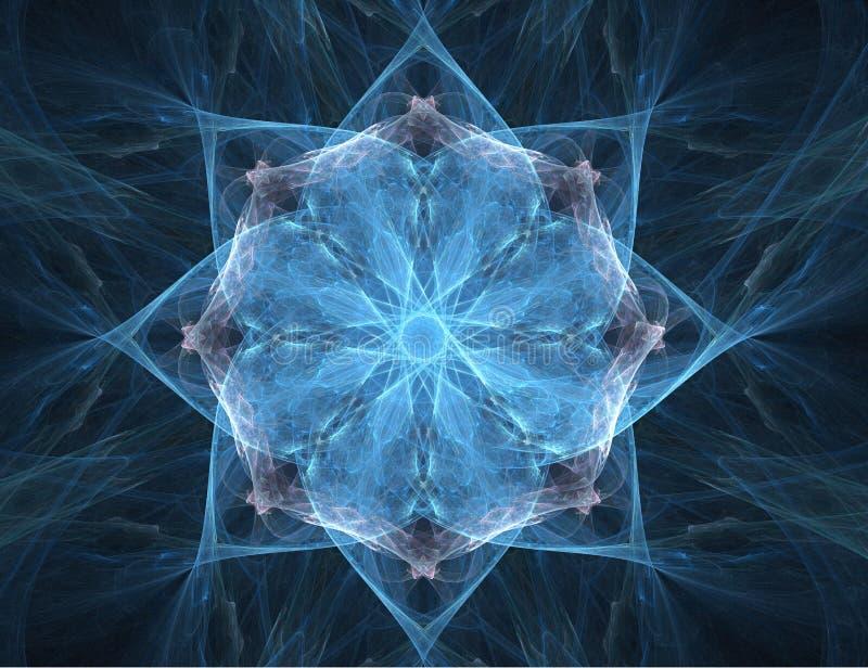 Extracto del fractal - estrella (fondo) libre illustration