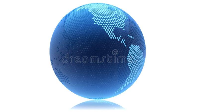 Extracto del globo punteado foto de archivo