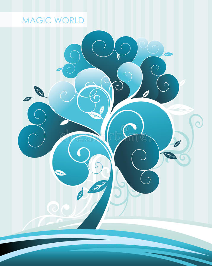 Extracto del invierno del árbol stock de ilustración