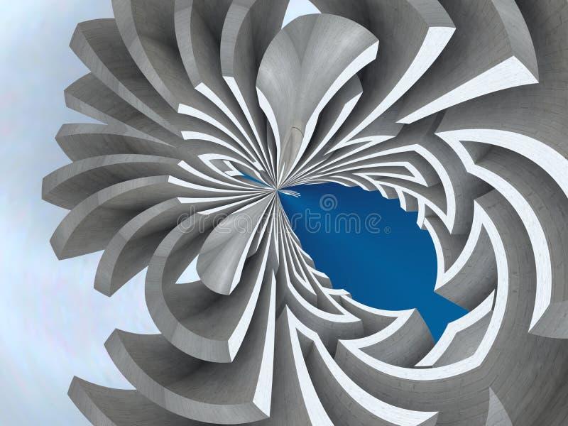 Extracto del laberinto ilustración del vector