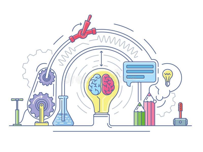 Extracto del laboratorio de las ideas ilustración del vector