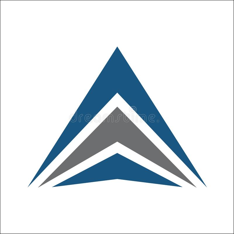 Extracto del logotipo del triángulo ilustración del vector
