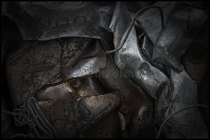 Extracto del metal inútil fotos de archivo