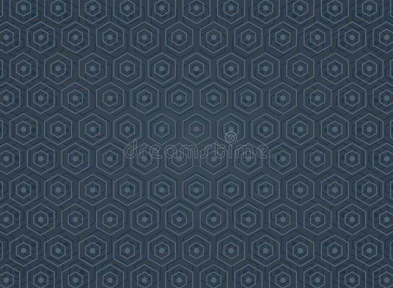 Extracto del modelo pentagonal geométrico del fondo de la dimensión ilustración del vector