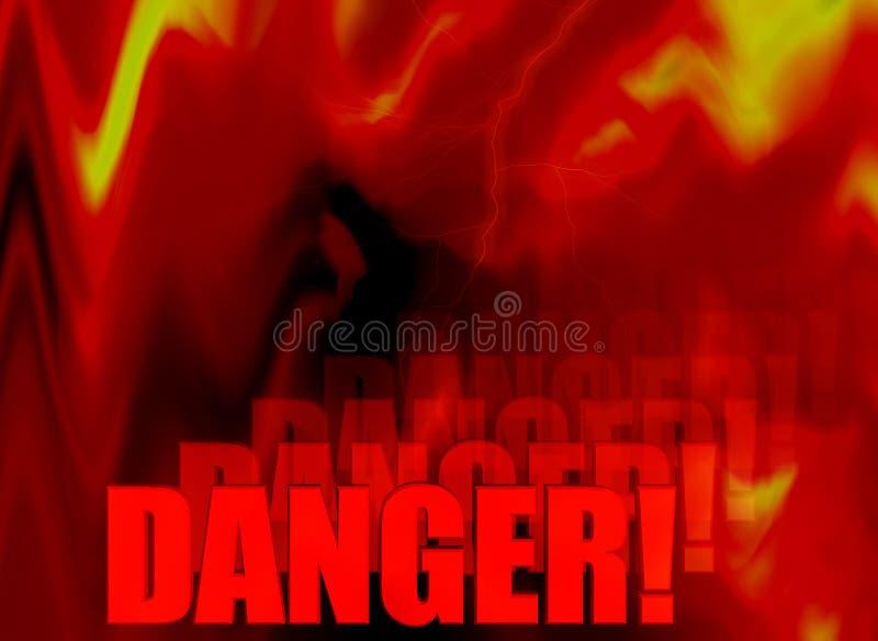 Extracto del peligro del fuego libre illustration