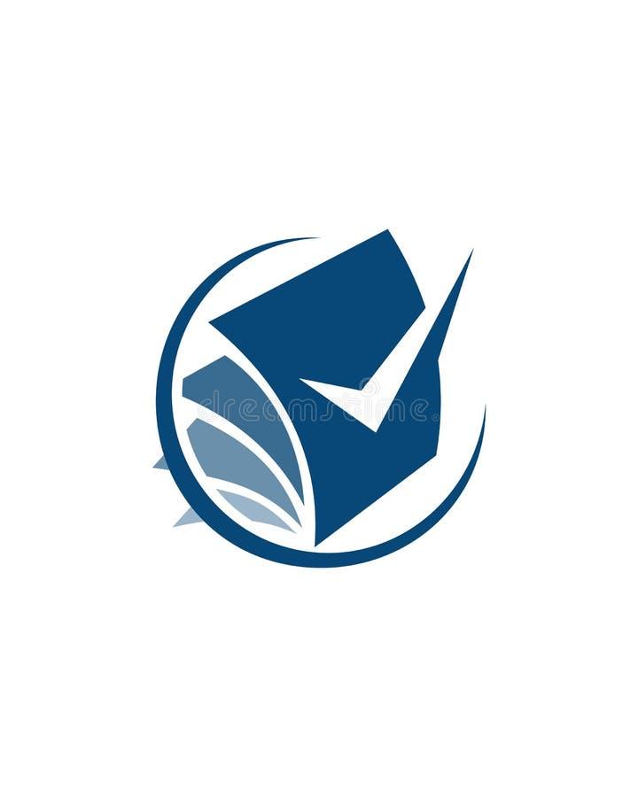 Extracto del seguro de negocio del diseño 6 del logotipo de la contabilidad ilustración del vector