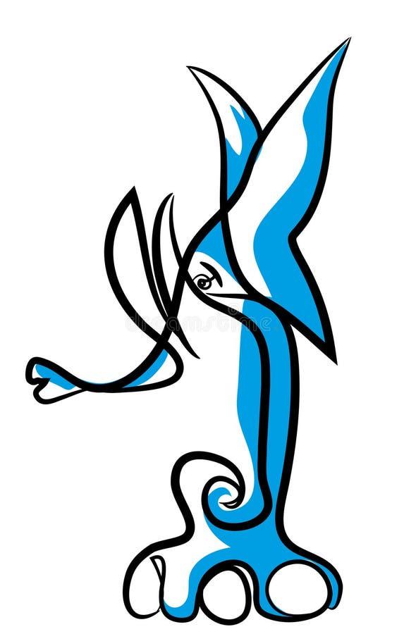 Extracto del tatuaje del elefante ilustración del vector
