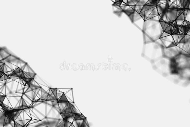 Extracto del triángulo del fondo Plantillas de semitono del diseño del fondo Fondos modernos abstractos geométricos foto de archivo