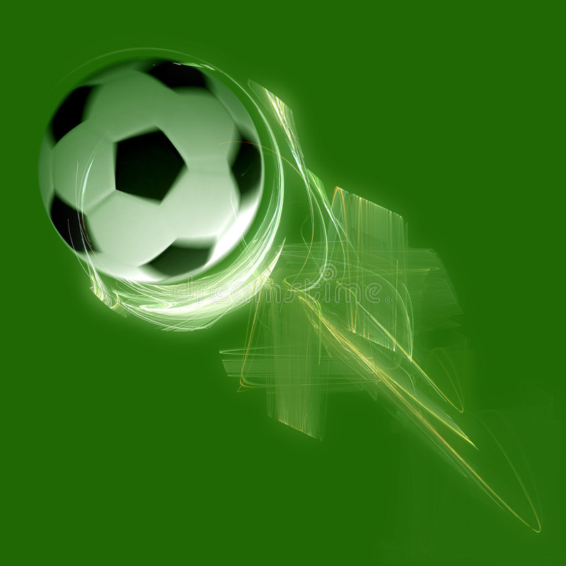 Extracto del vuelo del balón de fútbol stock de ilustración