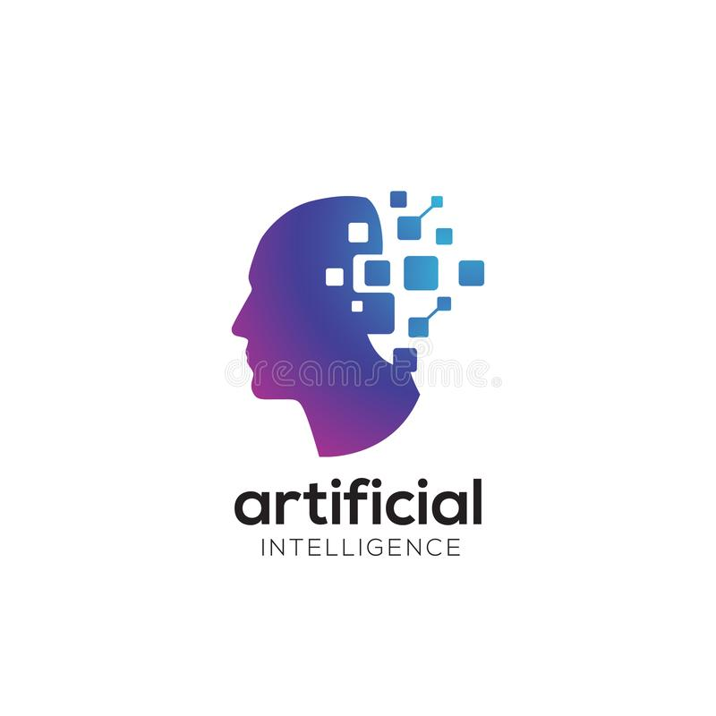 Extracto digital colorido del logotipo principal moderno para la tecnología innovadora libre illustration