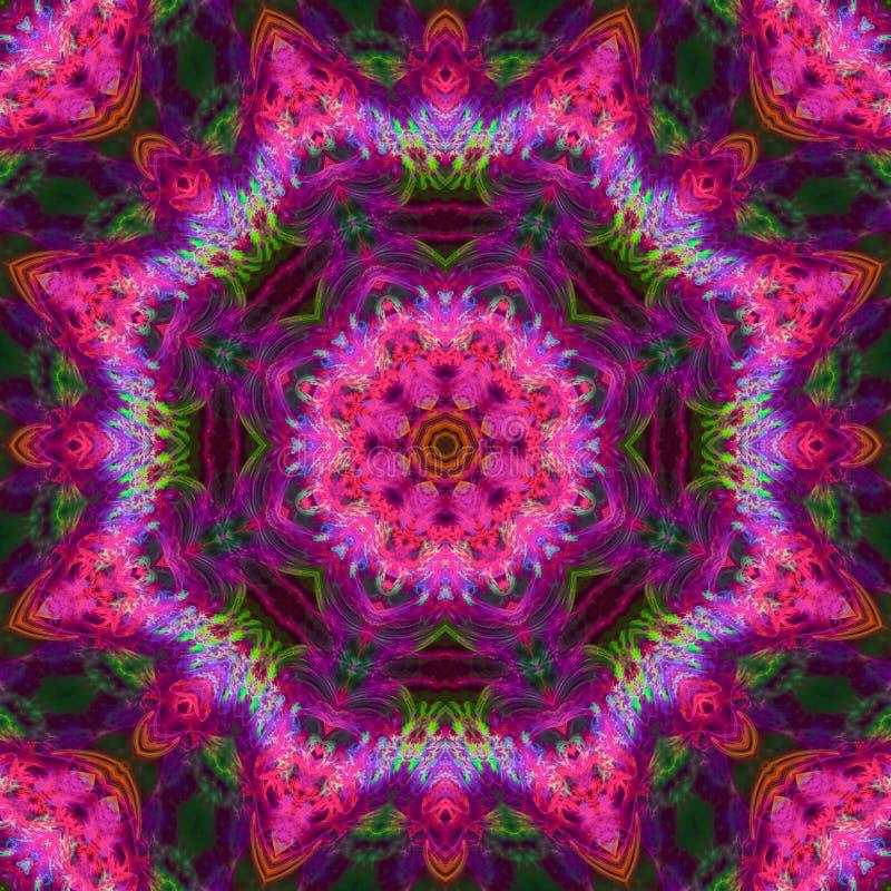Extracto digital del caleidoscopio del fractal, hermoso diseño imagenes de archivo