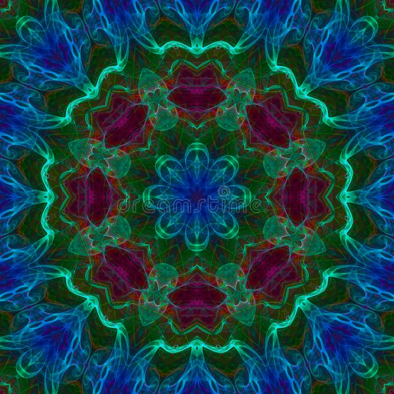 Extracto digital del caleidoscopio del fractal, hermoso diseño de la mandala imagen de archivo
